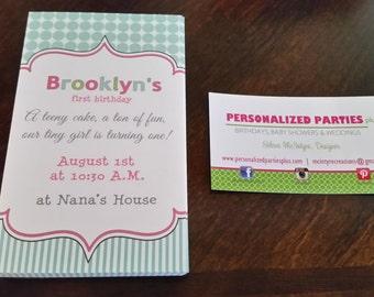 Tiny one first birthday Invitations | Tiny invite | first birthday invitation DIY