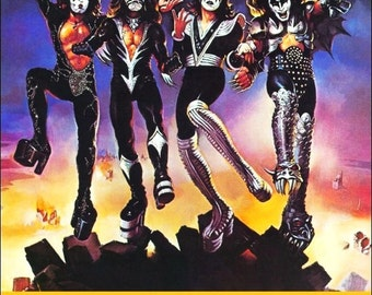 KISS Destroyer Tour Roosevelt Stadium Stand-Up Display - Collectibles Collection Collector Memorabilia Gift Rock Band Music Retro