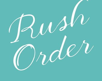 Rush Order for Wedding Invitations
