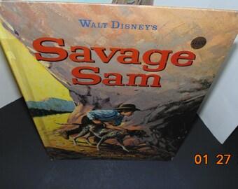 Vintage Walt Disney's Savage Sam by Fred Gipson as told by Carl Memling Mel Crawford 1963 Big Golden Book