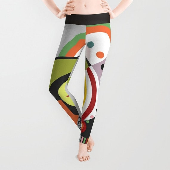 Colourful Leggings, Womens Leggings, Printed Leggings, Plus Size Leggings, Yoga Leggings, Workout Leggings, Active Wear