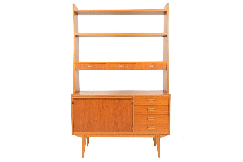 Swedish Mid Century Modern Teak Bookcase by MidCenturyMobler