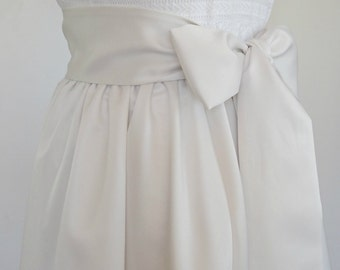 Simple Satin Ivory Sash 2, 3 or 4 inch Wide, Matte Satin Bridal Sash, Bridesmaid Belt