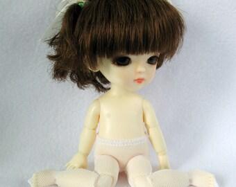 Lati yellow / PukiFee legwear stockings white