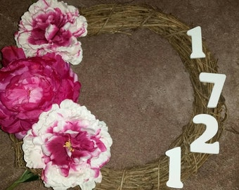 Floral address wreath