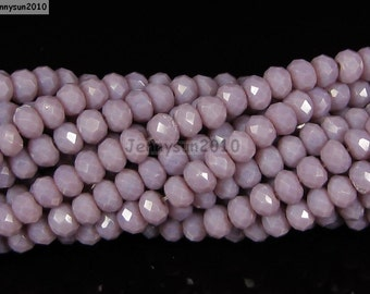 100Pcs Opaque Rosybrown Czech Crystal 2mm x 3mm Faceted Rondelle Loose Spacer Beads For Bracelet Necklace Jewery Making Crafts
