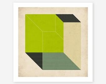 Minimalist, Geometric, Abstract Art, Giclee Fine Art Print by Jazzberry Blue, CUBES (6)