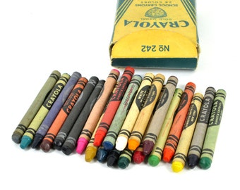 Crayola No 242 School Crayons in Box from 1950's - Binney & Smith