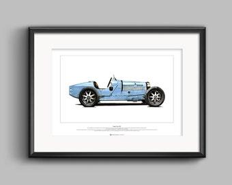 Bugatti Type 35B ART POSTER A2 size