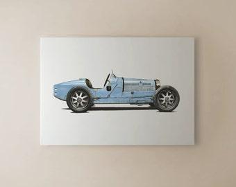 Bugatti Type 35B CANVAS PRINT