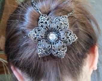 Steampunk Cosplay Bun Cover Hair Accessory