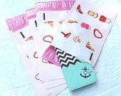 """50 -6x9 DESIGNER SERIES """"Accessorize & Shop"""" Poly Mailer Envelopes Flat Self Sealing Poly Mailing Flat Plastic Shipping Mailers"""