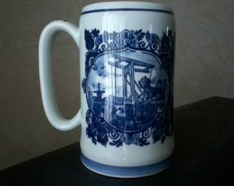 Blue Delft Stein