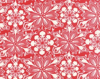 Patchwork in Crimson - Jingle by Kate Spain for Moda
