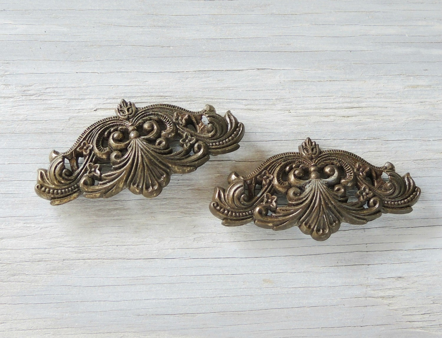 2 salvaged furniture hardware embellishment industrial for Rustic home decor suppliers