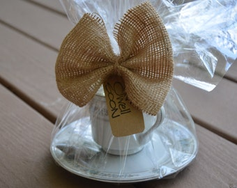 Get Well Soon- Vintage Tea Cup with Raw Honey, Tea bag, and saucer- Get Well Soon Gift-Ship to your loved one
