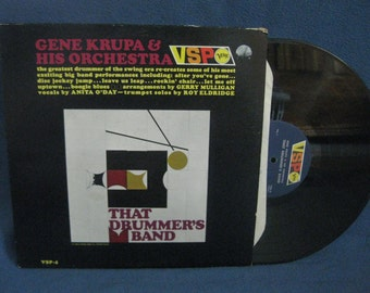 "RARE, Vintage, Gene Krupa & His Orchestra  - ""That Drummers Band"", Vinyl LP, Record Album, Original, Anita O'Day, Reefer Madness, Jazz"