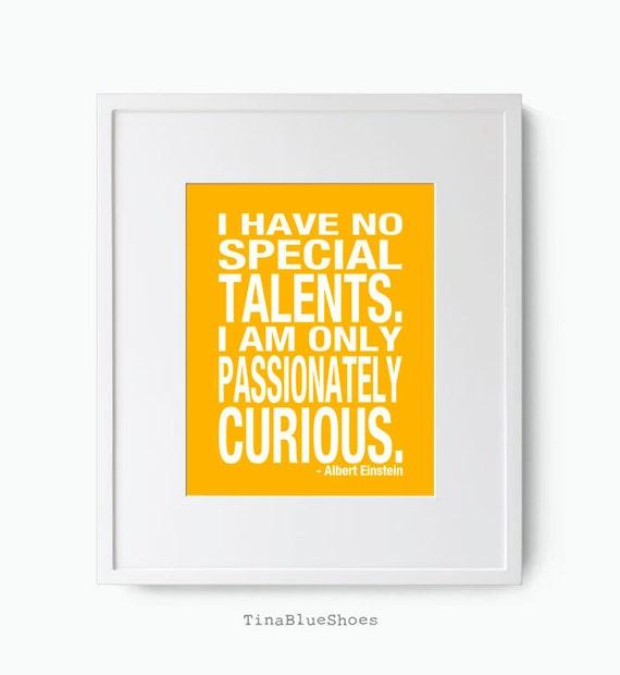 Inspirational Quote Art Print Custom Colors Albert Einstein Quote Poster Inspiration Art Print