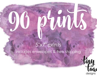 "90 PRINTS - on 100lb. matte cardstock with white envelopes and FREE Shipping (5""x7"" prints)"