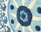 Pillow Cover - Tribal Thread Azure - Same Fabric BOTH Sides- Pick Your Size