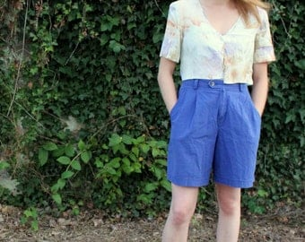 Liz Sport Royal High-Waist Shorts