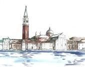 Venice Original Watercolor Print