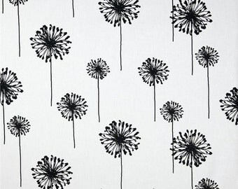 Black Table Runner. Black and White Table Runner.Black Dandelion Runner.