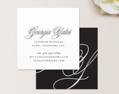 Lavish Square Business Card / Calling Card / Mommy Card / Contact Card - Interior Designer, Calling Cards, Modern Business Cards