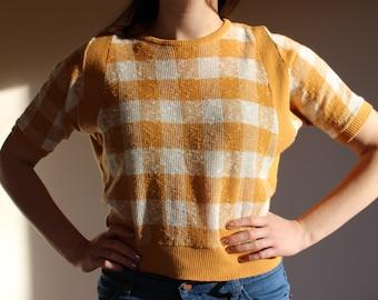 Vintage 1970s Mustard Knit Shirt