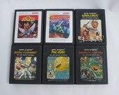 Vintage 8 Atari Game Cartridges Missile Command Warlords Pac-Man Moon Patrol Demons to Diamonds Joust (not pictured) Baseball and Homerun