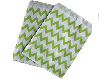 Lime Green Favor Bag