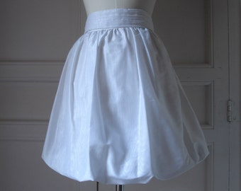 FOUND IN SPAIN -- Bright white bubble skirt
