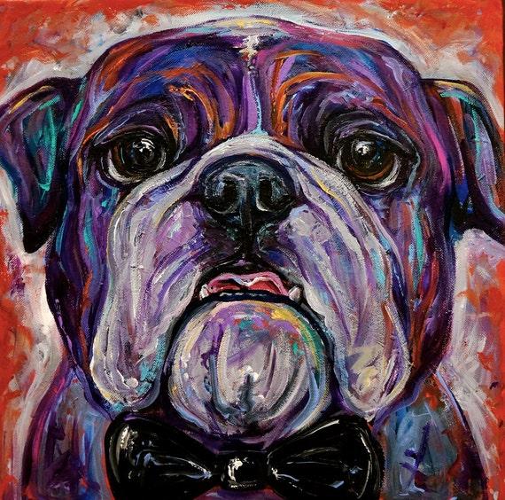 Custom Commissioned Pet Portrait - 12x12 Inch Canvas