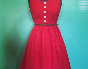 Dawn Dress - 1950s vintage style reproduction custom handmade