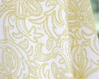 """Paisley Cotton Knit Fabric - 59"""" Wide - By the Yard - 80102"""