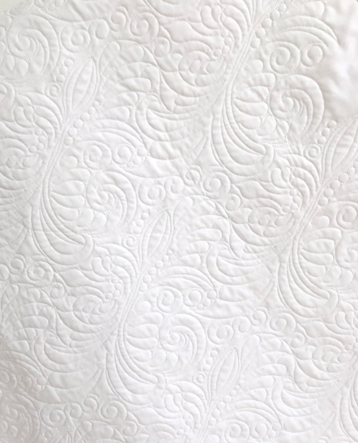 Baby Quilt Whole Cloth with Soft White Cotton Fabric for Soft White Cotton Texture  155sfw