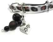 RESERVED for TERRI - Pet Collar Charm, Zipper Pull, Beaded Pet Charm, Paw Print Pet Accessories, Zipper Pull Charm