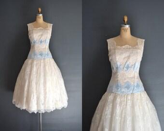 Gem / 50s wedding dress / lace dress