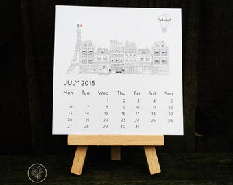 2016 Mini Desk Calendar - Paris Street