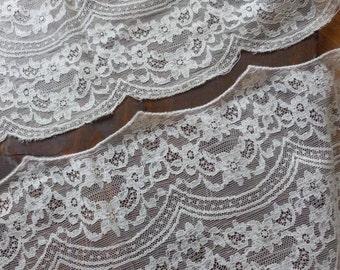 Vintage Wide Creamy White Lace