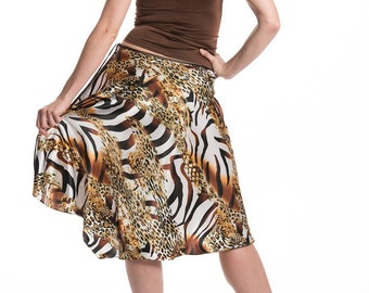 On Sale! Tango skirt, dance skirt, tango wear, dance clothing, tango fashion, satin, silk skirts, argentine tango, hand-crafted