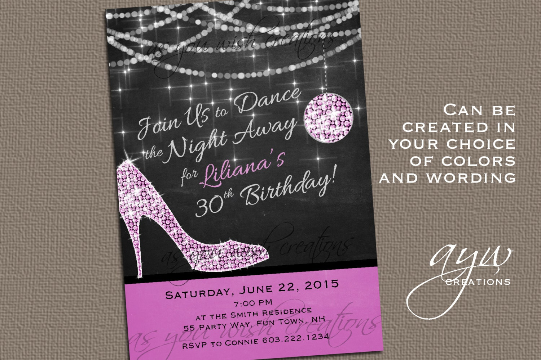 High Heels Dance Party Invitation Printable Invitation Elegant