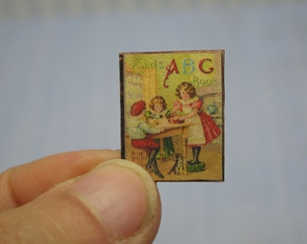 OFFER 50% Gaël Miniatur Childs ABC book, book child 1:12 Dollhouse Scale Or 1/6 Scale Dollhouse Miniature playscale child book Accessory