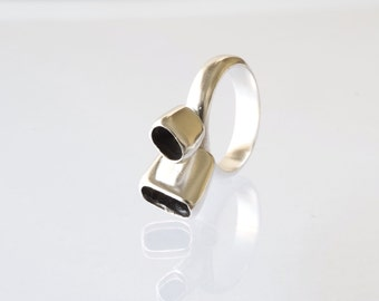 Coral Ring / Handcrafted Silver Ring - Nature Jewelry