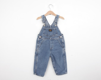 Vintage Oshkosh Overall Dungarees in Denim 2 / 2T years