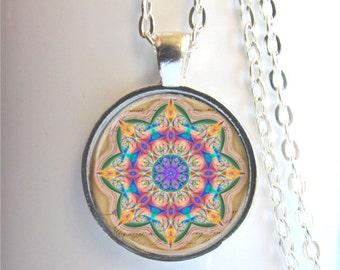 Mandala Pendant, Mandala Art Necklace, Mandala Jewelry