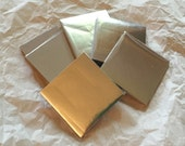 Silver Origami paper - 100 sheets of 3x3 inch silver foil origami paper