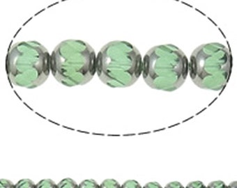 12pc 9.5mm  Crystal Glass Beads  half-plated-1719A