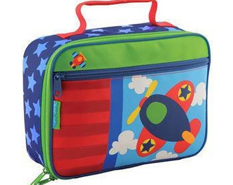 Personalized Stephen Joseph Airplane Lunch Box