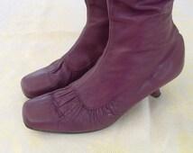 free shipping YOHJI YAMAMOTO  authentic leather boots    size 40  circa  1980's